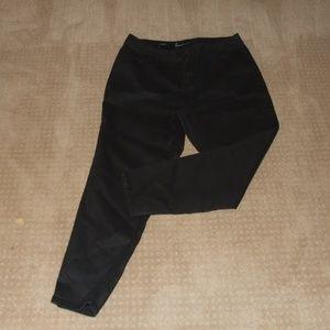 Lane Bryant Wax Coated Black Skinny Jeans 20
